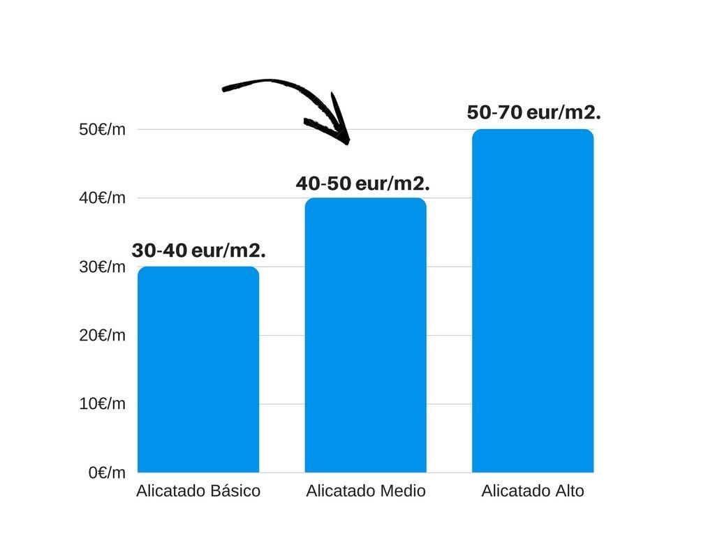 Reforma del ba o ventajas y precio alicatado final for Precio m2 alicatado